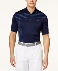 Greg Norman For Tasso Elba Men's Big And Tall Striped Golf Polo Only At Macy's Night Sky