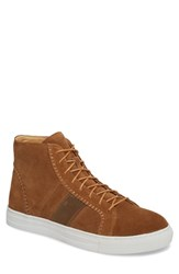 English Laundry High Top Sneaker Cognac Suede