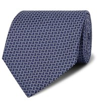 Dunhill 8Cm Mulberry Silk Jacquard Tie Midnight Blue