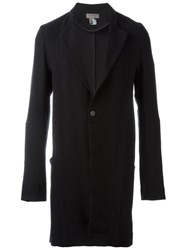 Tony Cohen Single Button Mid Length Coat Black