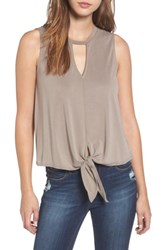 Leith Women's Keyhole Tank Olive Abbey