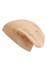 Made Of Me Accessories Slouchy Cashmere Beanie Beige