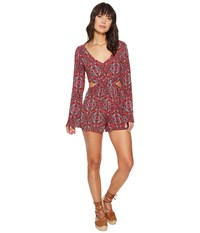 Billabong Worlds Collide Walkshorts Sangria Women's Jumpsuit And Rompers One Piece Red