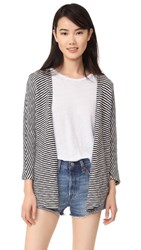 Sundry Striped Cardigan Navy Stripe