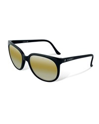 Vuarnet Legend 02 Round Nylon Sunglasses Black Yellow