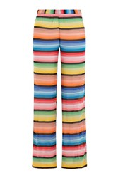 Missoni Mare Wide Leg Crochet Knit Pants Multicolor