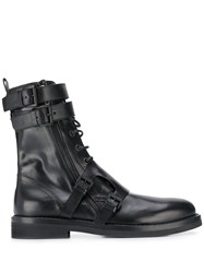 Ann Demeulemeester Side Buckle Lace Up Boots 60