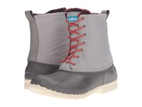 Native Jimmy Winter Dublin Grey Pigeon Grey Red Plaid Shoes Gray