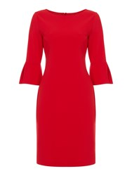Linea Cora Tie Front Dress Red