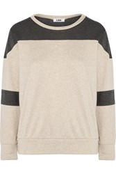 Lna Paneled Modal Blend Sweatshirt White