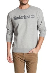 Timberland Long Sleeve Linear Logo Pullover Gray