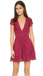For Love And Lemons Siena Mini Dress Scarlet