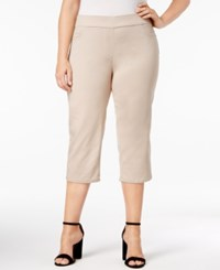 Jm Collection Plus Size Tummy Control Pull On Capri Pants Only At Macy's Stonewall