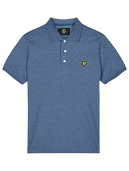 Lyle And Scott Three Colour Mouline Polo Shirt Blue Steel