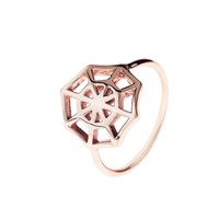 Latelita London Cosmic Spiderweb Ring Rose Gold Pink Purple