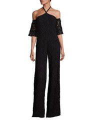 Sachin Babi Wilhelmina Cotton Lace Jumpsuit Onyx