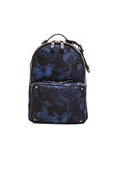 Valentino Camu Butterfly Backpack In Blue Animal Print
