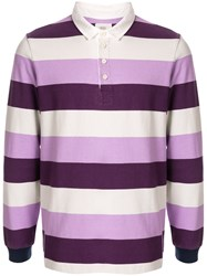 Kent And Curwen Striped Pattern Polo Shirt 60