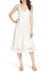 Adelyn Rae Women's Fit And Flare Midi Dress Off White