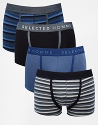 Selected Wikan 4 Pack Trunks Navy