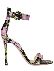 Gianvito Rossi 100Mm Portofino Flower Satin Sandals