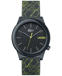 Lacoste Motion Gray Silicone Print Strap Watch 41Mm No Color