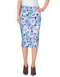 Calla Skirts Knee Length Skirts Women Sky Blue