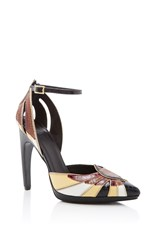 Rodarte Leather Pointed Toe Heel Brown
