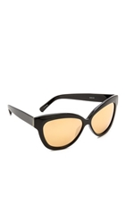 Linda Farrow Thick Rim Sunglasses Black Gold