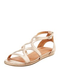 Gentle Souls Oak Flat Comfort Sandals Rose Gold