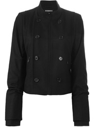 Ann Demeulemeester Double Breasted Military Jacket Black