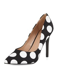 Charles By Charles David Pact Polka Dot Pointed Toe Pump Black White