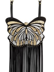 Manish Arora Butterfly Fringed Leather Shoulder Bag