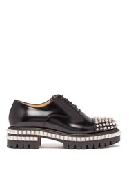 Christian Louboutin Kings Road Studded Leather Oxford Shoes Black