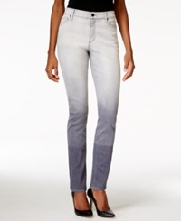 Dkny Jeans Manhattan Ombre Skinny Gray Wash Jeans
