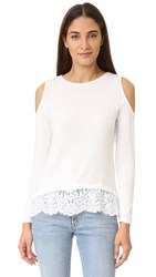 Generation Love Martha Cold Shoulder Sweater White