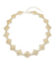 Saks Fifth Avenue Filagree Goldtone Necklace