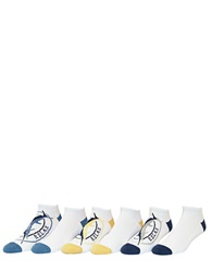 Tommy Bahama Six Pack Assorted Athletic Liner Socks White