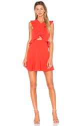 Bcbgmaxazria Careen Dress In Bright Poppy Red