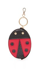 Charlotte Olympia Bug Coin Pouch Real Red Black