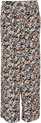 Soaked In Luxury Wide Leg Floral Trousers Multi Coloured