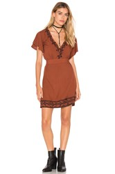 Cleobella Shay Short Dress Burnt Orange