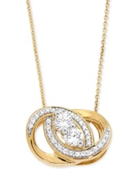 Macy's Diamond Knot Pendant Necklace 1 2 Ct. T.W. In 14K Gold Yellow Gold
