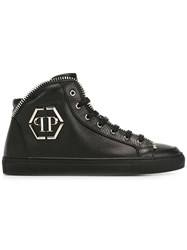 Philipp Plein 'Anniston' Hi Top Sneakers Black
