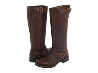 Frye Veronica Slouch Wide Calf Dark Brown Extended Calf Shine Vintage Cowboy Boots