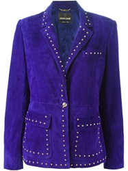 Roberto Cavalli Studded Blazer Pink And Purple