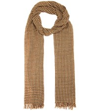 Etoile Isabel Marant Zali Wool And Cashmere Scarf Brown