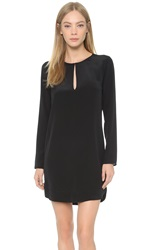 Rory Beca Longsleeve Keyhole Shift Dress Onyx