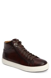 Magnanni Men's Carlo Sneaker Mid Brown Leather