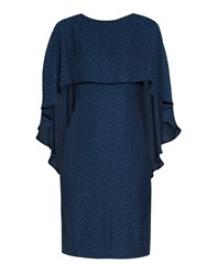 Gina Bacconi Lightweight Animal Jacquard Dress Navy